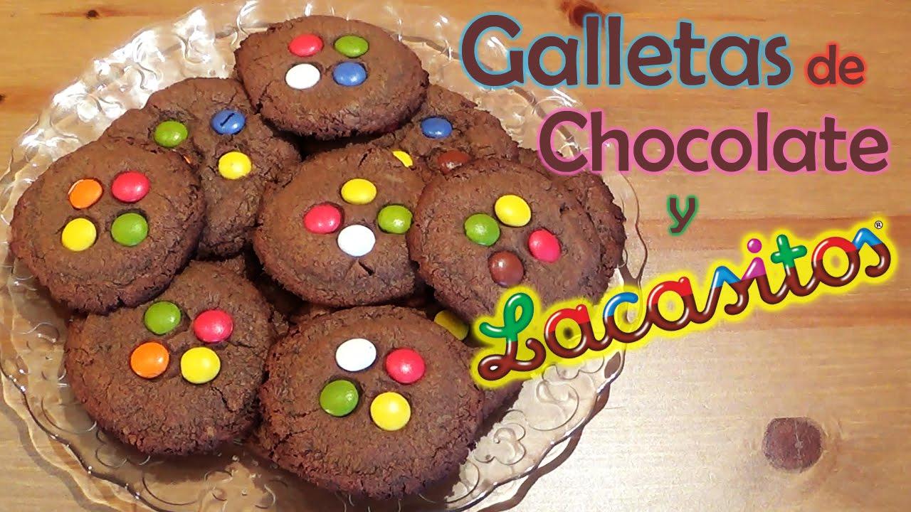 Recetas De Galletas Fáciles Galleta De Chocolate Y Lacasitos Youtube