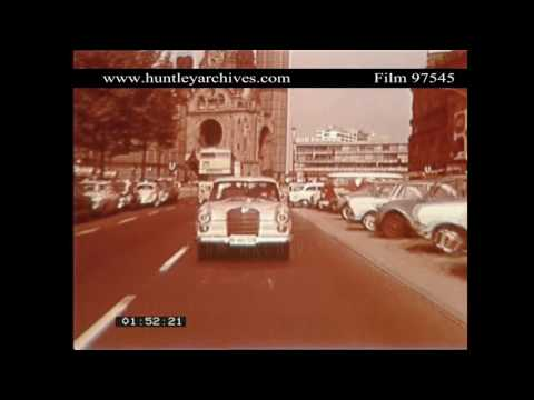 Berlin in 1966.  Archive film 97545