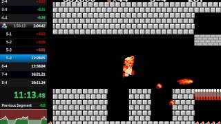 Super Mario Bros. Warpless in 19:09.83