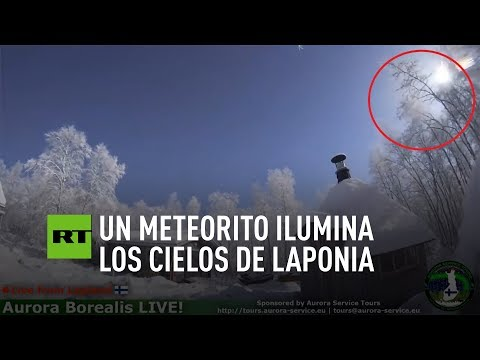 Un meteorito ilumina los cielos de Laponia
