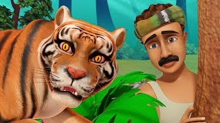 The Thankful Tiger Story   Bengali Stories for Children   Infobells