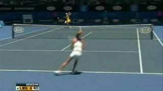 Serena Williams vs Urszula Radwanska 2010 Highlight 1