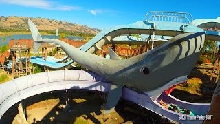 Great White Shark Water Slide (POV) - Raging Waters Water Park 2015