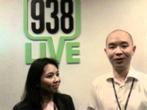 Joel Chua and Pamela Ho from 938 Live: The Living Room