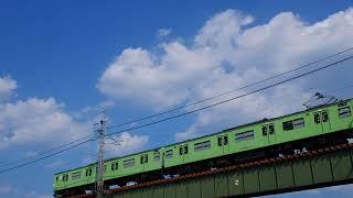 【JR西日本103系2018年8月】JR西日本奈良線103系、宇治橋にて