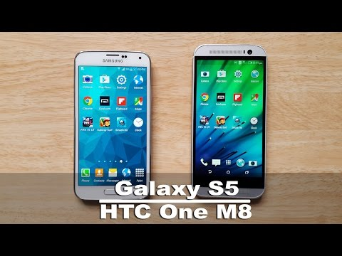 HTC One M8 vs Samsung Galaxy S5 Speed Test & Comparison
