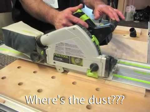 First Look: Festool's Amazing Dust-Free TSC-55 Cordless Track Saw!