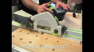 A Demo Of The Festool Tsc-55 Dust-free Cordless Track Saw