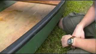 Old Town Canoe Refurbishing - Painting the Gunwales