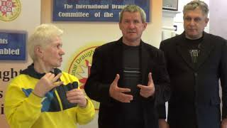 Firlej 2019. 5th European Draughts-100 Disabilities Ch. Closing ceremony - Leonid Itkin Speech