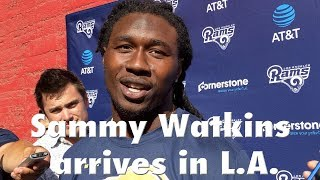 Rams Receiver Sammy Watkins Arrives in L.A. | Los Angeles Times thumbnail