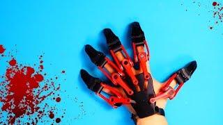 Gefährliche Exoskelett Krallenhand mit dem 3D Drucker gedruckt - Jumanji TM