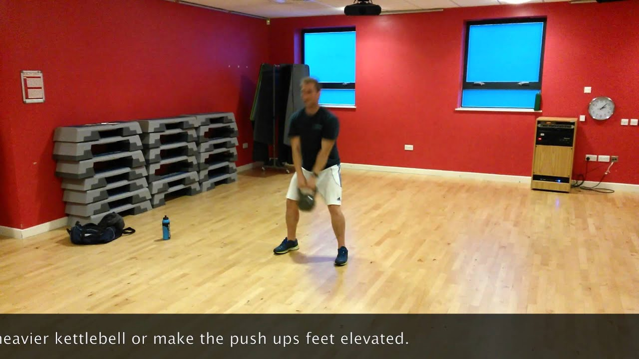 Kettlebell Swing and Push Up Workout |