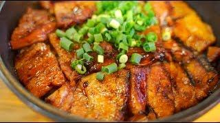 Japan, Day 6.1, Tokyo - Butayarou 豚野郎/ブタヤロウ, Charcoal Roasted Grilled Pork-Belly Butadon [4K ASMR]