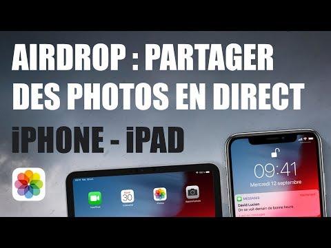 Partager des photos et des vidéos entre iPhone / iPad avec AirDrop