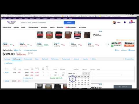 2017 Yahoo Finance new portfolio layout