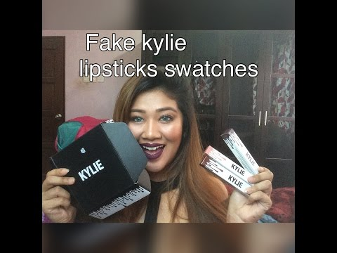 FAKE KYLIE LIPSTICKS METAL AND MATTE SWATCHES
