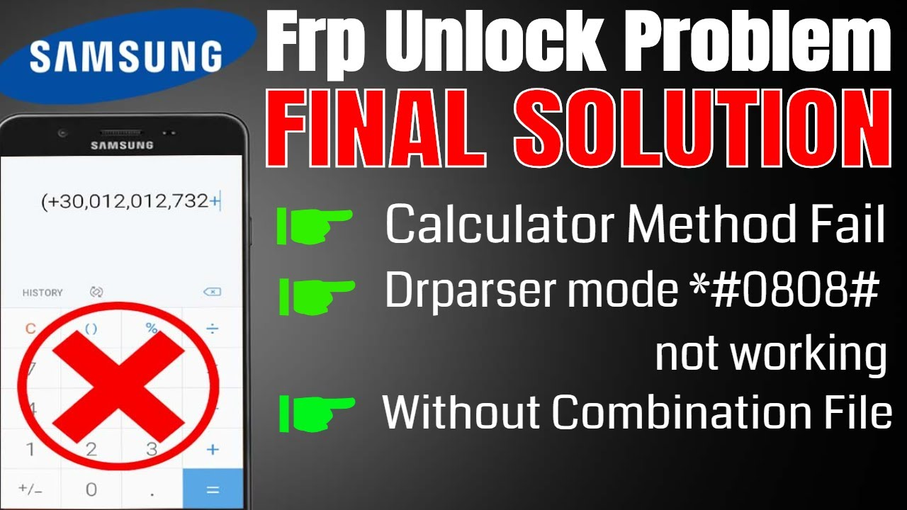 Samsung J7 Prime Frp Unlock Problem Calculator Method Fail Solution 2019