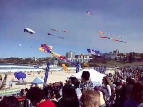 Flying Kites at Bondi's Festival of the Winds   Sydney