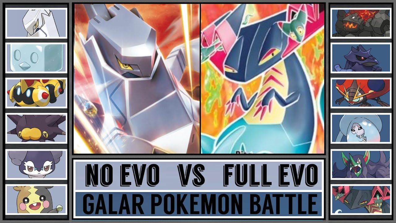 Galar Pokémon Battle: NO EVO vs FULL EVO!