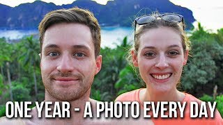 ONE YEAR SELFIE: A Photo Every Day | Spencer & Alex