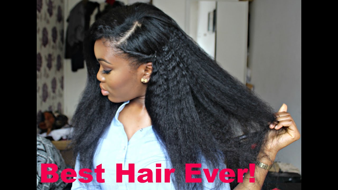 realstic looking hair!! ft kinky straight bundles (bestlacewigs)