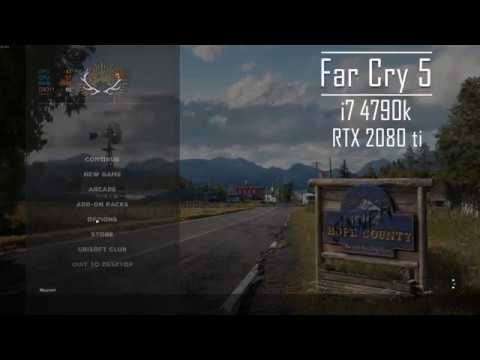 RTX 2080 ti | Far Cry 5 Benchmark | i7 4790k Max Settings (1440p)