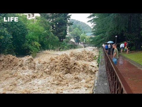 Кадры с GoPro. Мощный потоп в Сочи