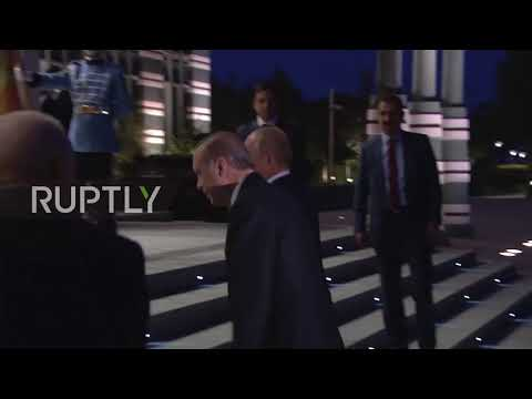 Turkey: Erdogan greets Putin ahead of bilateral talks in Ankara