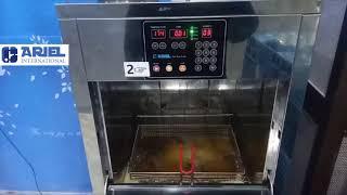 자동튀김기 CALF-100사용 방법, 친환경 튀김기, …
