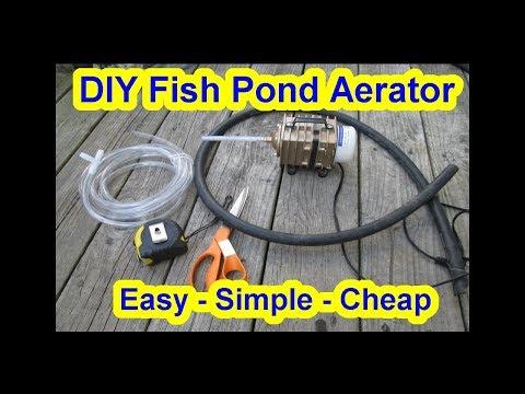 Cheap Simple DIY Koi Fish Pond Aerator - Air Pump - Pond Bubblier - Tank - Fountain