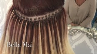 Nano Ring Hair Extensions ~ Fitting