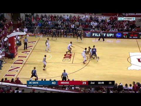 Highlights: UC Davis at Indiana | Big Ten Basketball