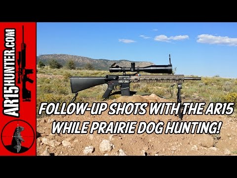 Follow Up Shots With The AR15 While Prairie Dog Hunting