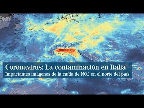 Coronavirus: Espectaculares imágenes de satélite de la caída de contaminación en el norte de Italia
