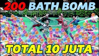 EXPERIMENT 200 BATH BOMB DI KOLAM RENANG PART #2