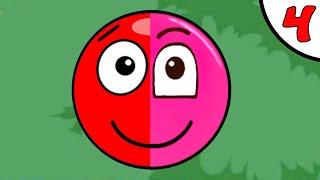 Несносный КРАСНЫЙ ШАРИК против чёрного квадрата и злого шара #4. ИГРА Red Pink Ball на Игрули TV