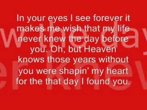 The Day Before You by Rascal Flatts *Lyrics*