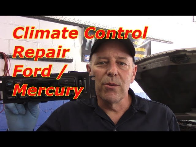 How To Diagnose And Repair Ac Vent Control Problem Ford Mercury Youtube