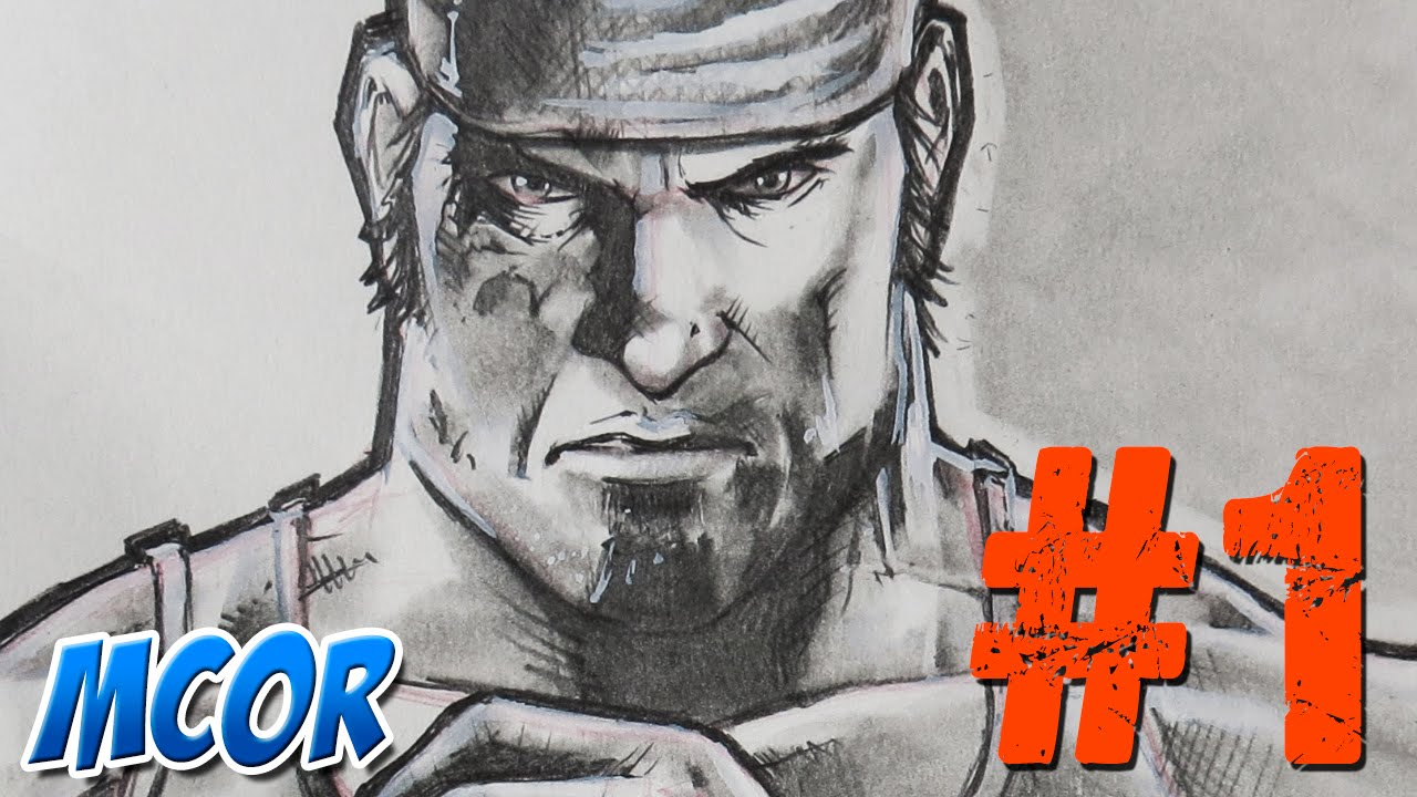 Boceto Rápido Marcus Fenix Gears Of War Youtube