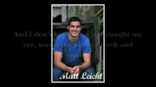 Matt Leicht - You Caught My Eye (with lyrics)