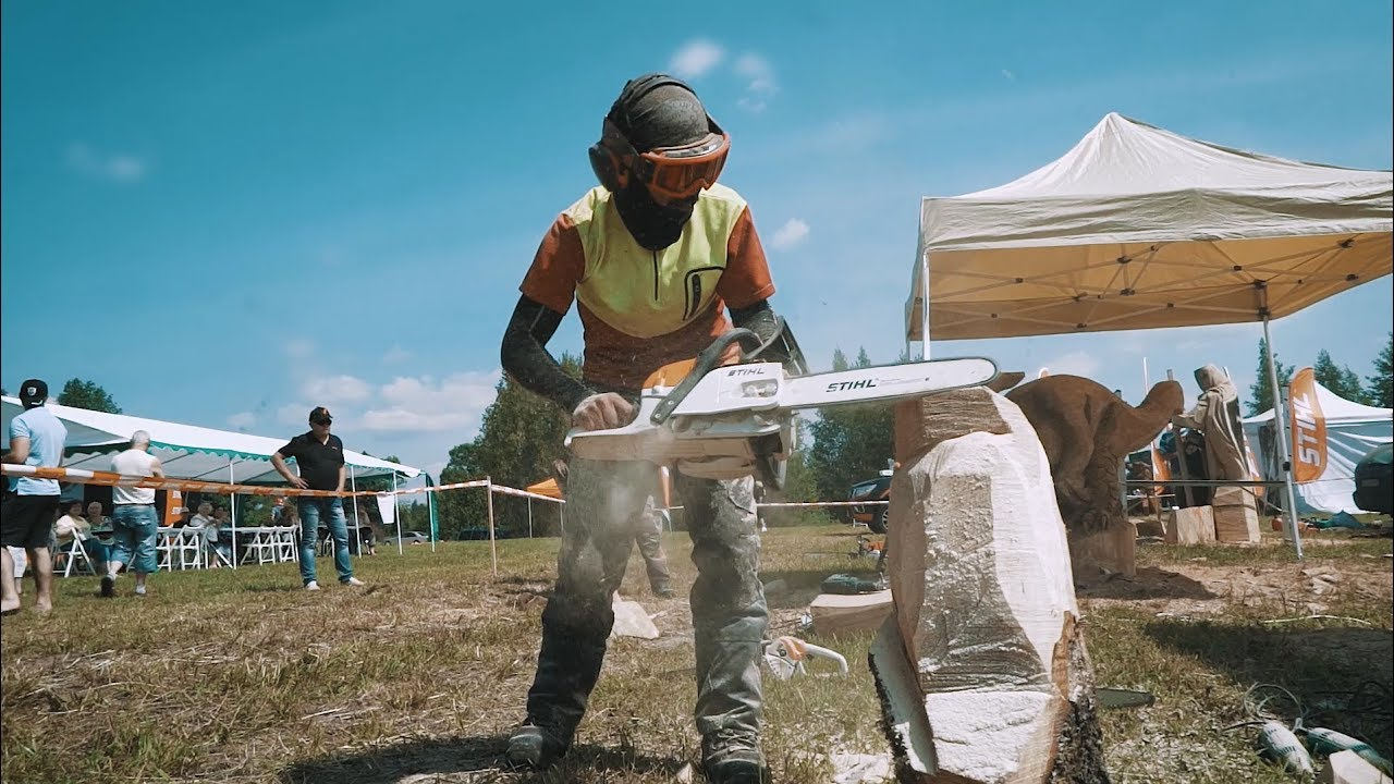 Open chainsaw carving competition in pocyne 2017 youtube