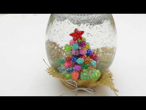 HANDMADE CHRISTMAS GIFTS - SNOW BALL - EASY TO GIFT - MAKE YOURSELF