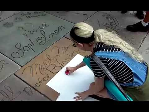Marilyn Monroe's imprints at TCL Chinese Theatre Hollywood