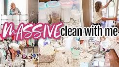 MASSIVE CLEAN + DECLUTTER! | COMPLETE CLOSET OVERHAUL | EXTREME CLEANING MOTIVATION