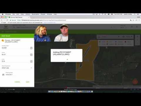 Encirca - Entering Planting Info in Field Planner