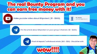 EARN MONEY FOR FREE JUST?? || Bitprotect.ltd || REVIEW  FOR THE FIRST TIME. pls watch full video.