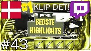 Danske Fortnite Highlights #43 | FT. MarckozHD, Jaxstyle, AnderzGoingFTW og Flere