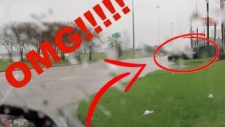 MUSTANG CRASHES AT LAMBORGHINI DEALERSHIP CAUGHT ON TAPE!!!