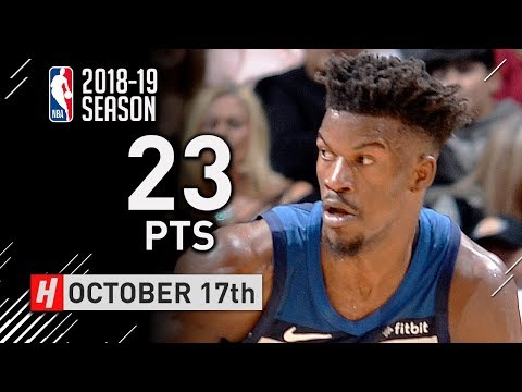 Jimmy Butler Full Highlights Wolves vs Spurs 2018.10.17 - 23 Pts, The RETURN!